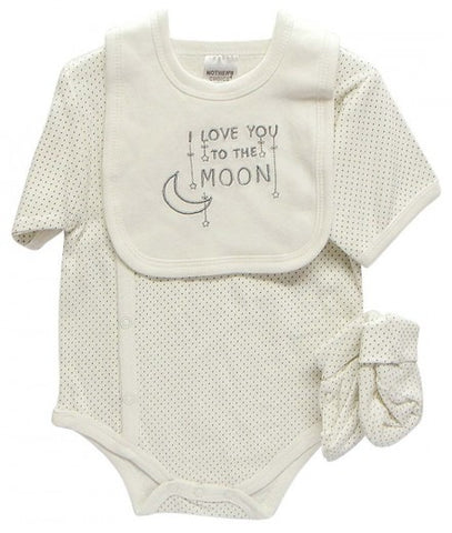 ROMPER, BIB & BOOTIES I LOVE YOU TO THE MOON