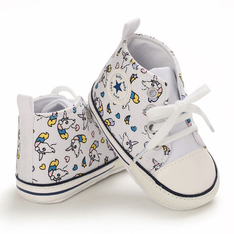 Infants Anti-slip Girls Canvas Sneaker - Unicorn
