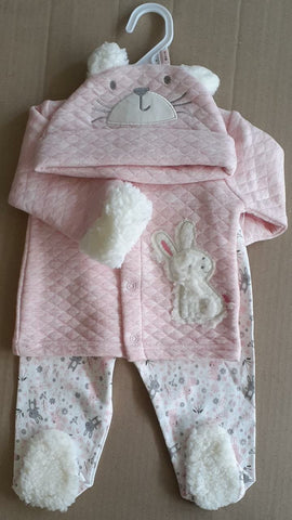 3PC QUILTED WINTER SET - BUNNY