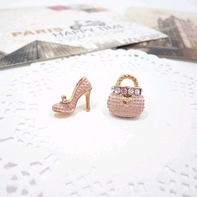 Bags and Heels Earrings - Pink