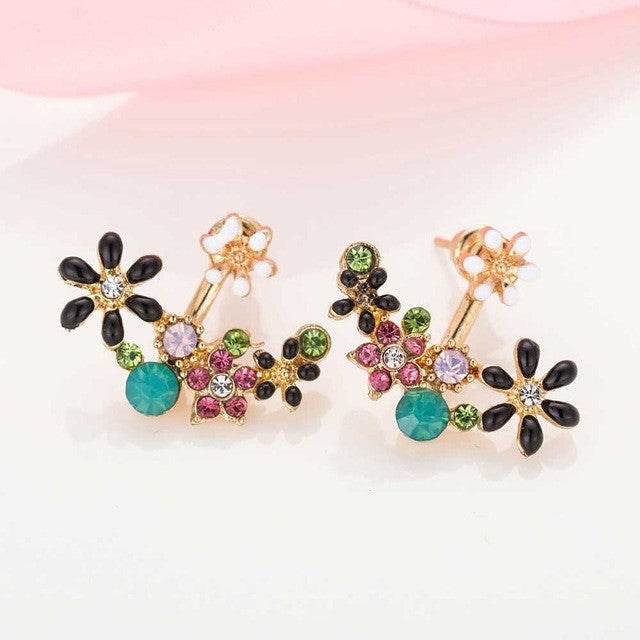 Spring Flower Jacket Earring