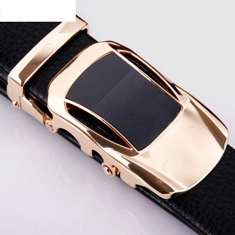 Leather Automatic Buckle Formal Belt - Car