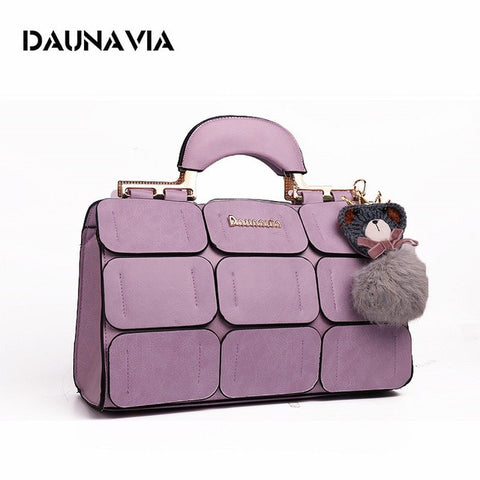 Ladies Patch Suture Hand Bag - Pink