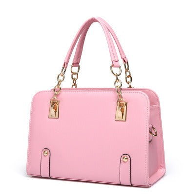 Ladies Chain Handle Hand Bag - Pink