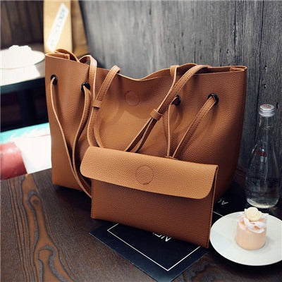 Ladies Bucket bag and Purse - Brown