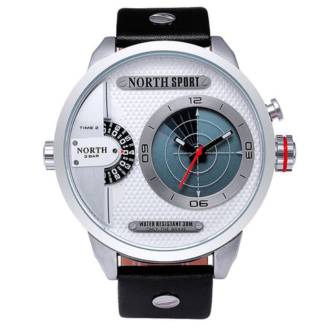 Men's Dual Movement Radar LED Watch - White