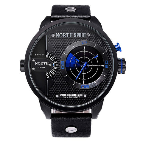 Men's Dual Movement Radar LED Watch - Blue