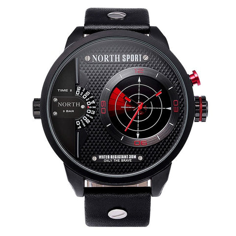 Men's Dual Movement Radar LED Watch - Red