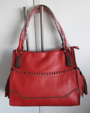 Casual Everyday Handbag - Red