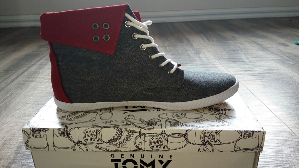 Tomy Takkies Lace Up Sneaker Denim Boot - Denim Red