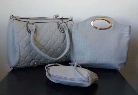 Ladies 3pc Handbag Set