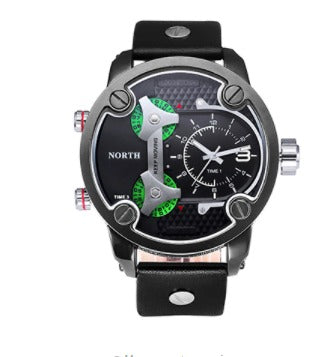 Men's Military 3 Zone Watch - Black