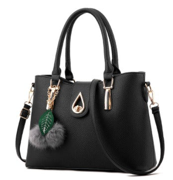 Ladies Tassel Pendant Hand Bag - Black