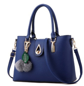 Ladies Tassel Pendant Hand Bag - Navy