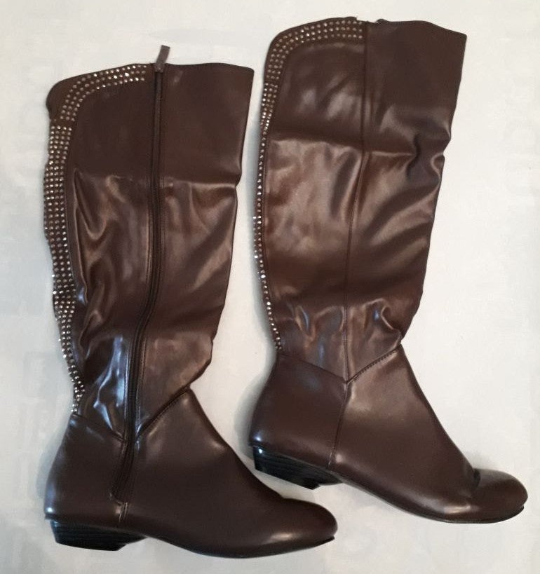 Ladies Boots - Brown Bling