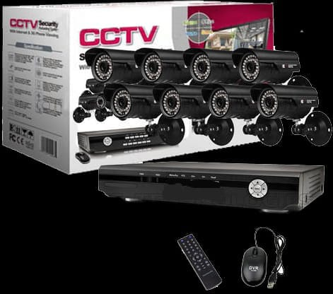 8 Channel Security Surveillance System With Internet & 3G Phone Viewing