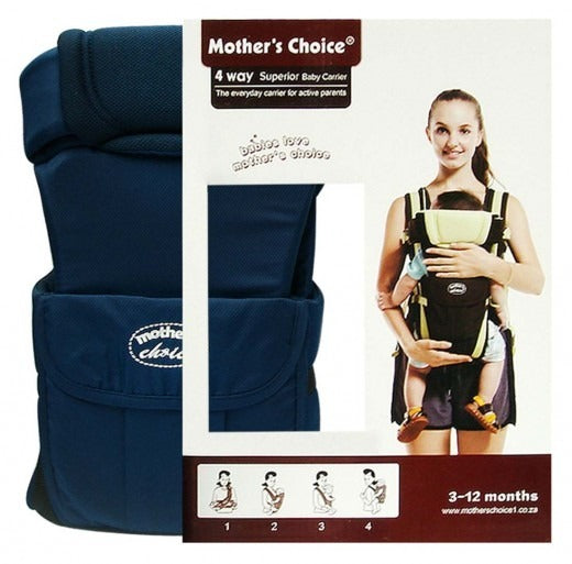 4 Position Baby Carrier - Designed for 3 - 12 Months Old - Navy