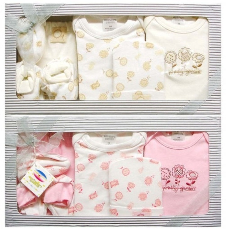 Double pack - 6pc Infant Gift Set - (0+ months) - Pink and Beige