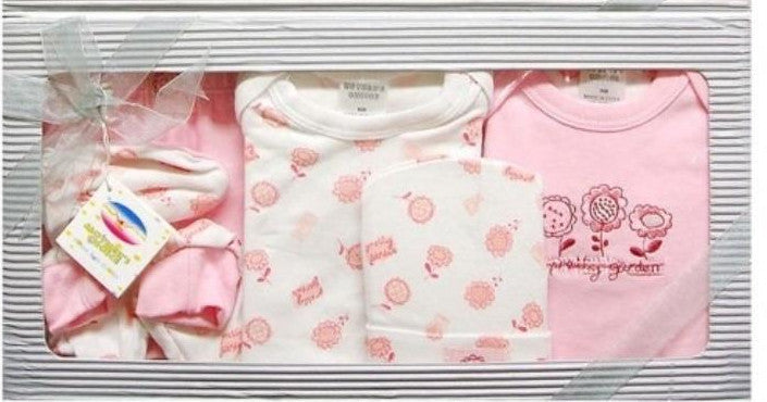 6pc Infant Gift Set (0+ months) - Pink