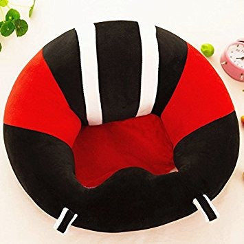 BABY SEAT SUPPORT SIT UP CHAIR SOFA PLUSH PILLOW - Black