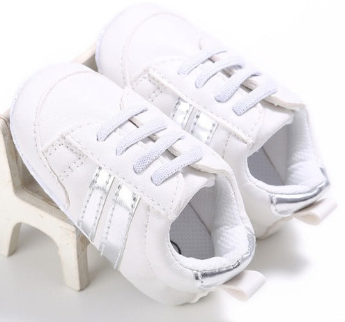 Infants Anti-slip Soft sole Sneakers - White