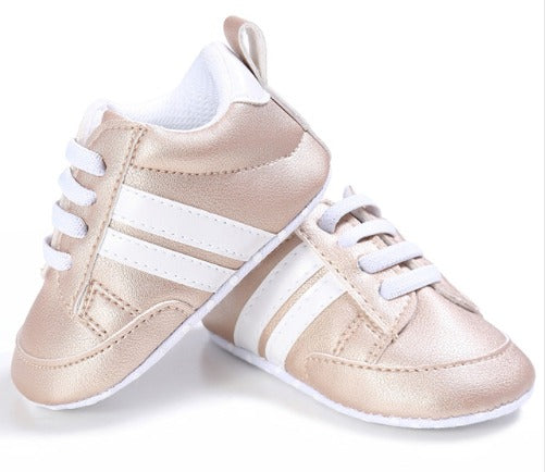 Infants Anti-slip Soft sole Sneakers - Gold