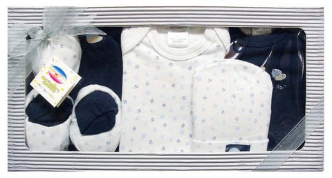 6pc Infant Gift Set - Pink (0+ months) - Navy