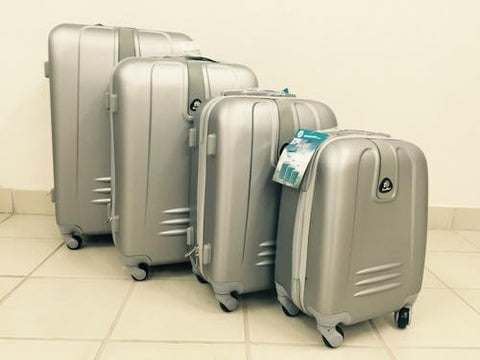 4 Piece Light Weight Luggage Set  - Silver