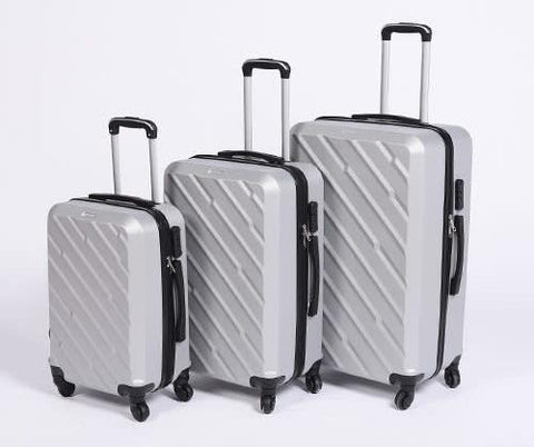 3 Piece Light Weight Luggage Set  - Silver