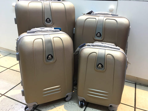 4 Piece Light Weight Luggage Set  - Champagne Gold