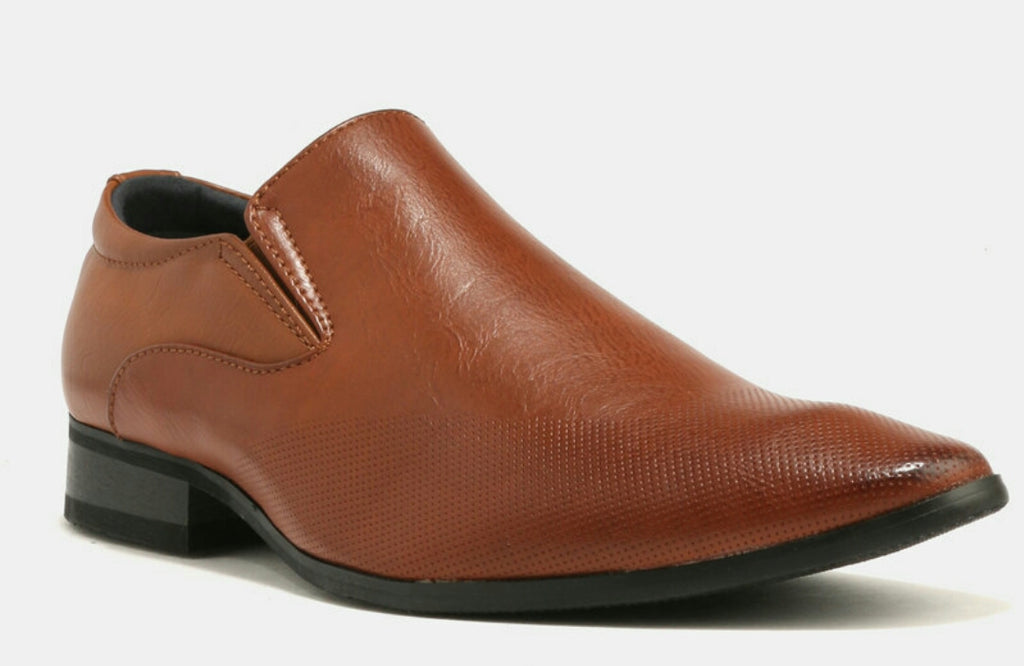 Baldini Formal Derby Slip On - Tan Brown