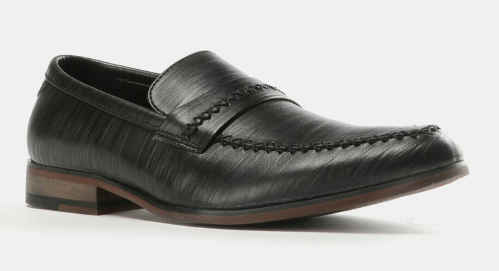 Formal Embossed Slip On Shoes - Black