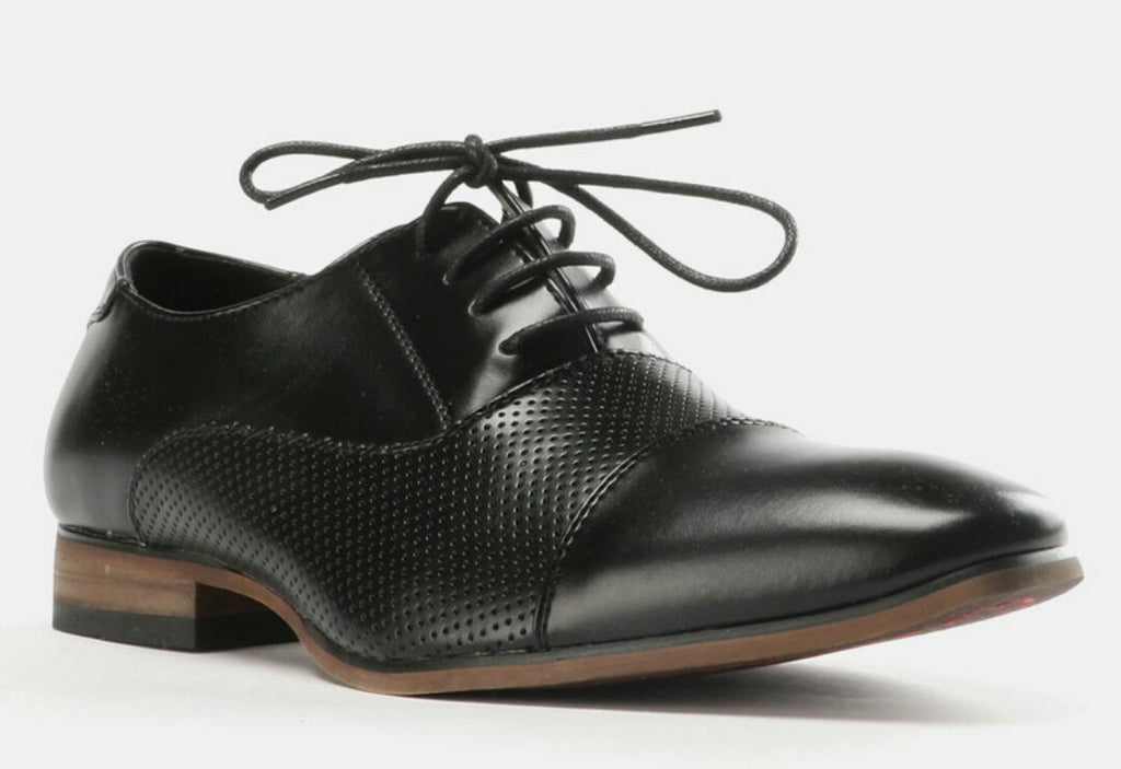 Formal Toe Cap Shoes - Black