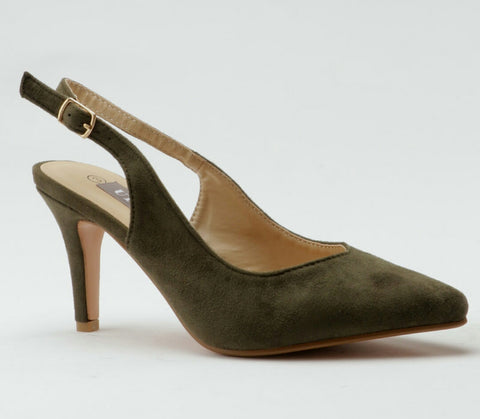 Pointed Heels Olive