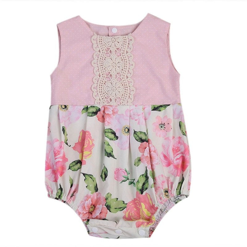 Newborn  Baby Girls Lace Bodysuit - 3-6 months