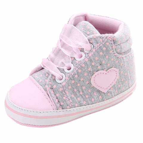 Infants Soft sole Sneakers - Pink/Grey