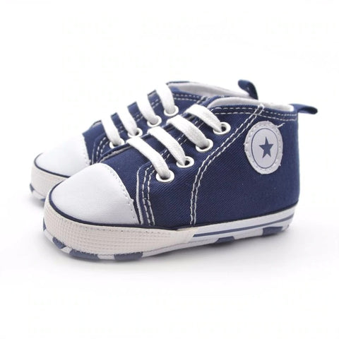 Infants Soft sole Sneakers - Navy
