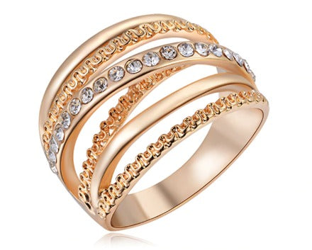 Crystal Ring - Rose Gold Plated