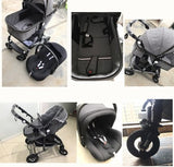 FREE Delivery - Baby Pram Stroller - 3 Function Foldable Baby Pram with Car Seat- mint green