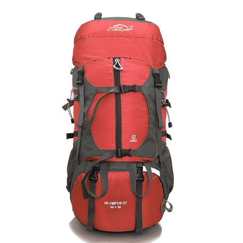 Olympus III Rucksack, Trekking & Hiking Backpack 65 Ltrs - Red