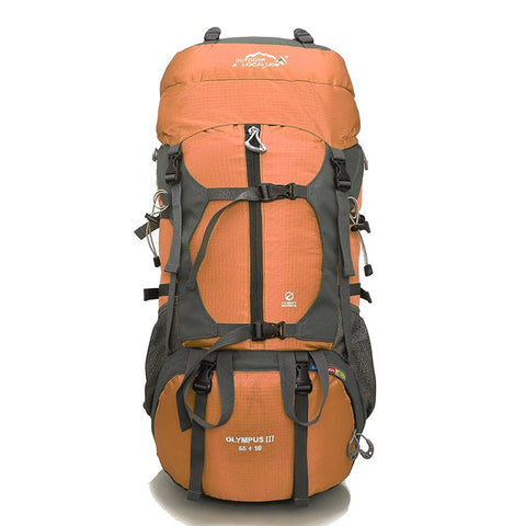 Olympus III Rucksack, Trekking & Hiking Backpack 65 Ltrs - Orange