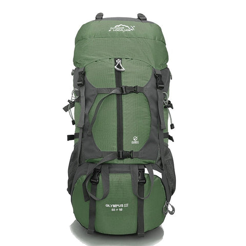 Olympus III Rucksack, Trekking & Hiking Backpack 65 Ltrs - Army Green