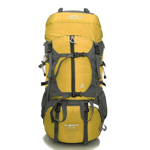 Olympus III Rucksack, Trekking & Hiking Backpack 65 Ltrs - Yellow