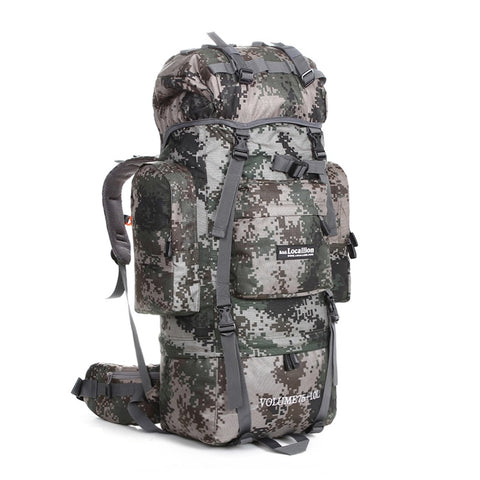 85L Outdoor Waterproof Rucksack, Trekking & Hiking Backpack - Camouflage