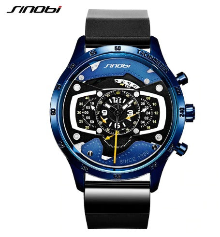 Men's Sinobi 9789 Racing Chronograph Sports Watch - Blue