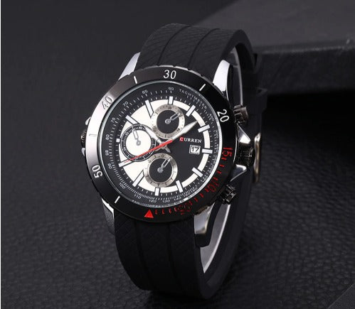Men's Casual Curren Watches - Black