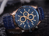 Men's Armiforce Luxury Genuine Leather Watch (8001) - Blue