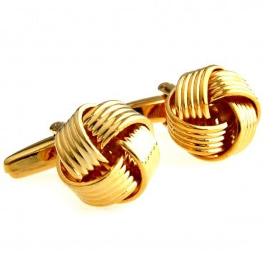 Knot Cuff Links -  Gold