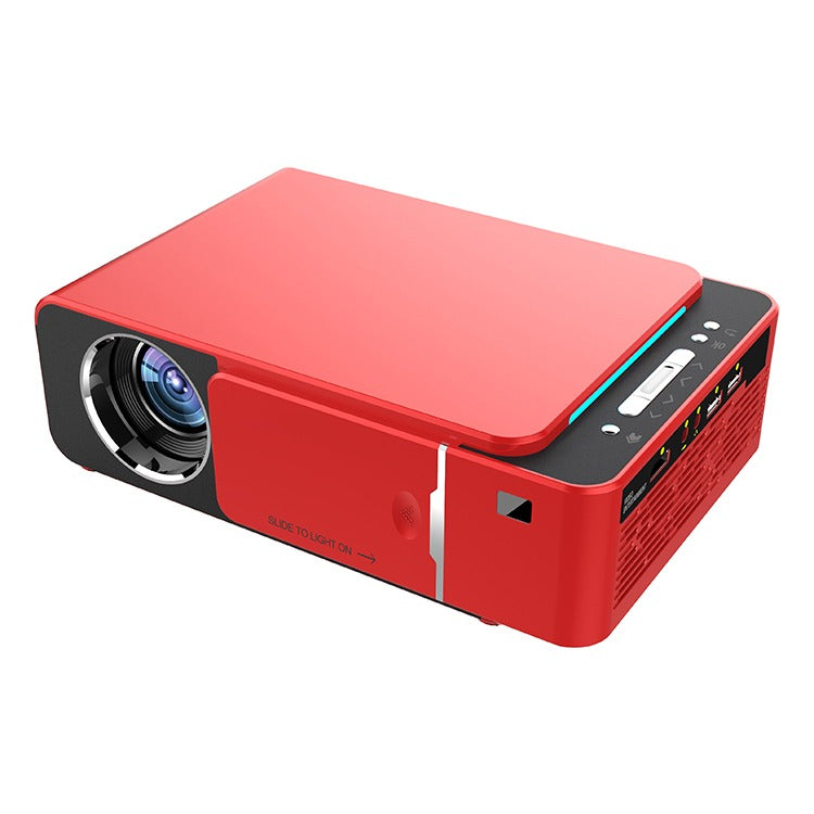 3000 Lumen LED Multimedia Projector - AV TV VGA HDMI USB SD Compatible - Red
