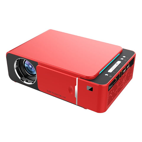 3000 Lumen LED WIFI Multimedia Projector - AV TV VGA HDMI USB SD Compatible - Red